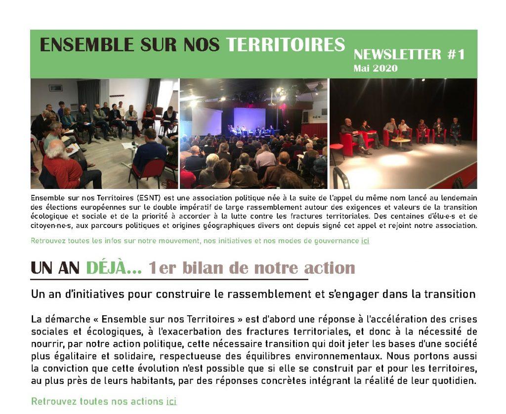 Newsletter #1 – Mai 2020